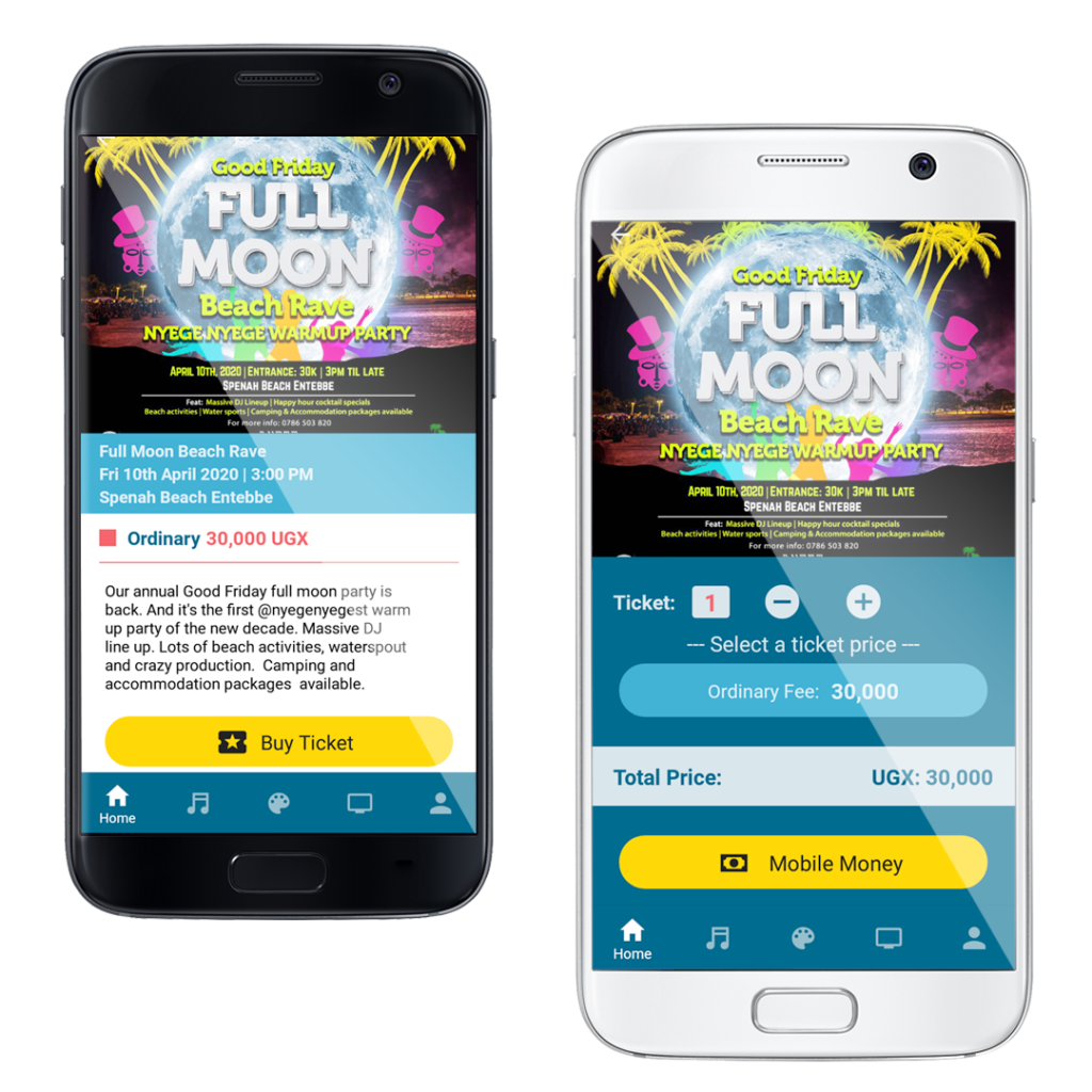 Talent africa group app ticketing